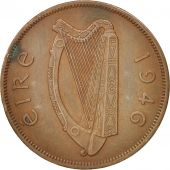 IRELAND REPUBLIC, Penny, 1946, TTB+, Bronze, KM:11
