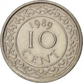 Suriname, 10 Cents, 1989, SUP+, Nickel plated steel, KM:13a