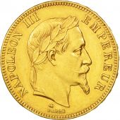 France, Napoleon III, 100 Francs, 1869, Paris, TTB+, Gold, Gadoury:1136