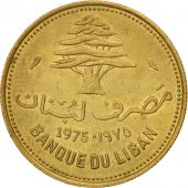 Lebanon, 10 Piastres, 1975, Paris, SUP, Nickel-brass, KM:26