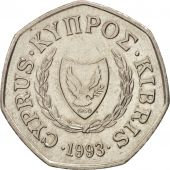 Chypre, 50 Cents, 1993, SUP, Copper-nickel, KM:66