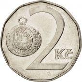 République Tchèque, 2 Koruny, 1993, SUP, Nickel plated steel, KM:9