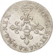 France, Louis XIV, 4 Sols dits des Traitants, 1677, Paris, EF(40-45), KM:232.1