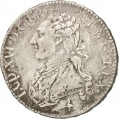 France, Louis XVI, 1/2 �cu, 1775, Paris, VF(30-35), Silver, KM:562.1