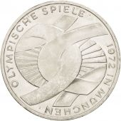 GERMANY - FEDERAL REPUBLIC, 10 Mark, 1972, Karlsruhe, MS(60-62), Silver, KM:131