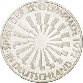 GERMANY - FEDERAL REPUBLIC, 10 Mark, 1972, Karlsruhe, MS(63), Silver, KM:130