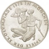 GERMANY - FEDERAL REPUBLIC, 10 Mark, 1972, Karlsruhe, MS(60-62), Silver, KM:132