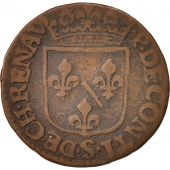 FRENCH STATES, CHATEAU-RENAUD, Liard, 1614, TB, Cuivre, KM:26.1, C2G:294