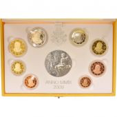 VATICAN, 1 Cent to 2 Euro, 2009, Proof Set, MS(65-70)