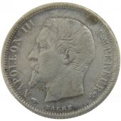 Second Empire, 50 Centimes Napoléon III Tête Nue