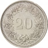 Suisse, 20 Rappen, 1989, Bern, SPL, Copper-nickel, KM:29a