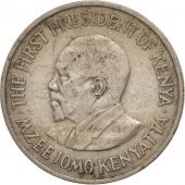 Kenya, 50 Cents, 1971, AU(50-53), Copper-nickel, KM:13