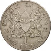 Kenya, Shilling, 1975, AU(55-58), Copper-nickel, KM:14