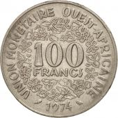 West African States, 100 Francs, 1974, TTB, Nickel, KM:4