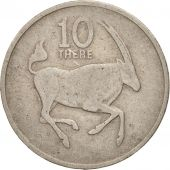 Botswana, 10 Thebe, 1980, British Royal Mint, TB, Copper-nickel, KM:5