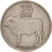 Botswana, 25 Thebe, 1989, British Royal Mint, TTB, Copper-nickel, KM:6