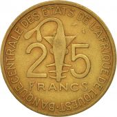 West African States, 25 Francs, 1971, VF(20-25), Aluminum-Bronze, KM:5