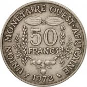 West African States, 50 Francs, 1972, TTB, Copper-nickel, KM:6