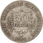 West African States, 50 Francs, 1984, TTB, Copper-nickel, KM:6
