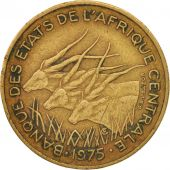 Central African States, 25 Francs, 1975, Paris, EF(40-45), KM:10