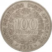 West African States, 100 Francs, 1971, TB, Nickel, KM:4