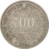 West African States, 100 Francs, 1967, TB+, Nickel, KM:4