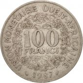 West African States, 100 Francs, 1987, TB+, Nickel, KM:4
