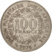 West African States, 100 Francs, 1976, EF(40-45), Nickel, KM:4