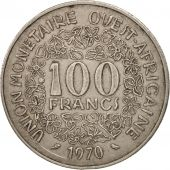 West African States, 100 Francs, 1970, TTB, Nickel, KM:4