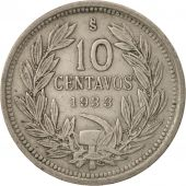 Chile, 10 Centavos, 1933, TTB, Copper-nickel, KM:166