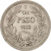 Chile, Peso, 1933, TTB+, Copper-nickel, KM:176.1