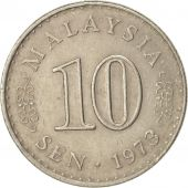 Malaysie, 10 Sen, 1973, Franklin Mint, TTB+, Copper-nickel, KM:3