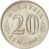 Malaysie, 20 Sen, 1987, Franklin Mint, SUP+, Copper-nickel, KM:4