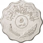 Iraq, 5 Fils, 1975, EF(40-45), Stainless Steel, KM:125a