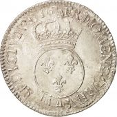 France, Louis XV, Écu Vertugadin, 1716, Paris, VF(30-35), Silver, KM:414.1