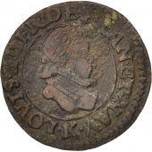 France, Louis XIII, Denier tournois, 1611, Bordeaux, TB, Copper, CGKL:300