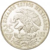 Mexico, 25 Pesos, 1968, Mexico City, MS(63), Silver, KM:479.1