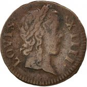 France, Louis XIV, Denier Tournois, 1648, Paris, Cuivre, KM:167, CGKL:552