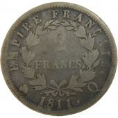 First Empire, 2 Francs Napoléon I Laureate head with Empire Reverse