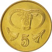 Chypre, 5 Cents, 1988, SPL+, Nickel-brass, KM:55.2