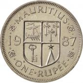 Mauritius, Rupee, 1987, MS(65-70), Copper-nickel, KM:55