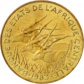 Central African States, 5 Francs, 1983, Paris, MS(64), Aluminum-Bronze, KM:7