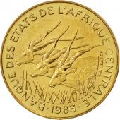 Central African States, 5 Francs, 1983, Paris, MS(65-70), Aluminum-Bronze, KM:7