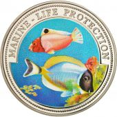 Liberia, 5 Dollars Marine Life Protection, 1997, MS(65-70), Silver