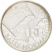 France, 10 Euro Basse-Normandie, 2010, MS(65-70), Silver, KM:1647
