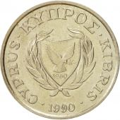 Chypre, 10 Cents, 1990, SUP+, Nickel-brass, KM:56.2