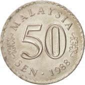 Malaysie, 50 Sen, 1988, Franklin Mint, SUP+, Copper-nickel, KM:5.3