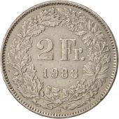 Suisse, 2 Francs, 1988, Bern, TTB, Copper-nickel, KM:21a.3