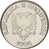 Albania, 5 Lekë, 1995, SPL+, Nickel plated steel, KM:76