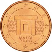 Malte, Euro Cent, 2008, SPL, Copper Plated Steel, KM:125